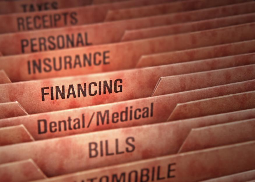 Insurance files at dentist office in Webster Groves MO