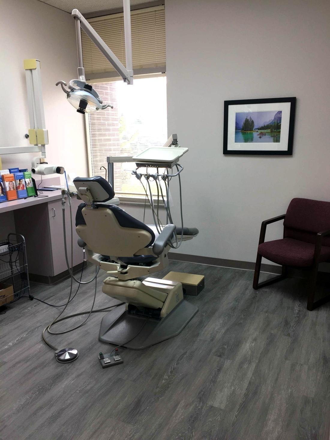 Dental treatment room at Webster Groves Dental in Webster Groves, MO